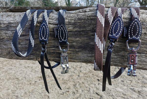Flachgestrickter Führ- und Anbindestrick mit Panikhaken (3 Meter)